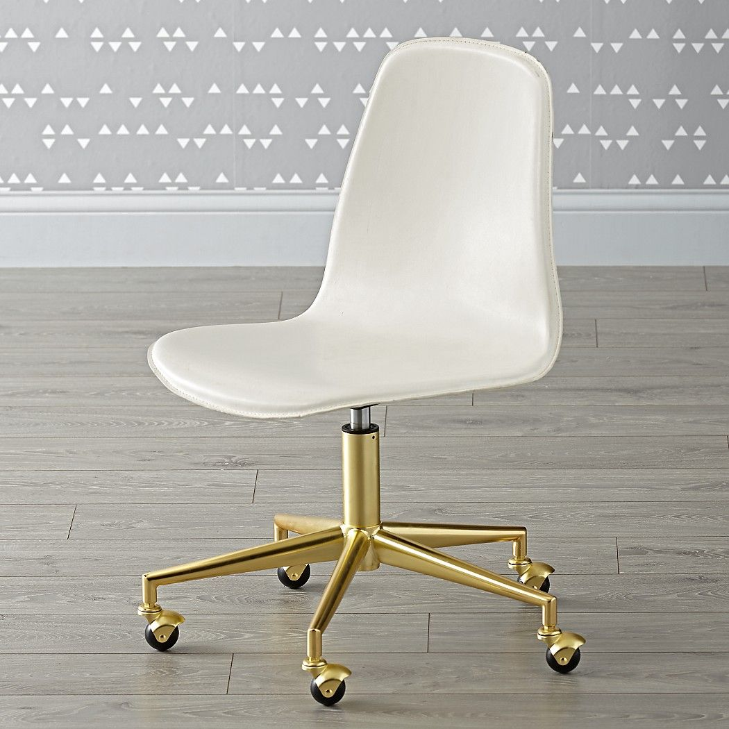 Kids White And Gold Desk Chair Reviews Crate And Barrel Gold Desk Chair Wooden Desk Chairs Best Office Chair