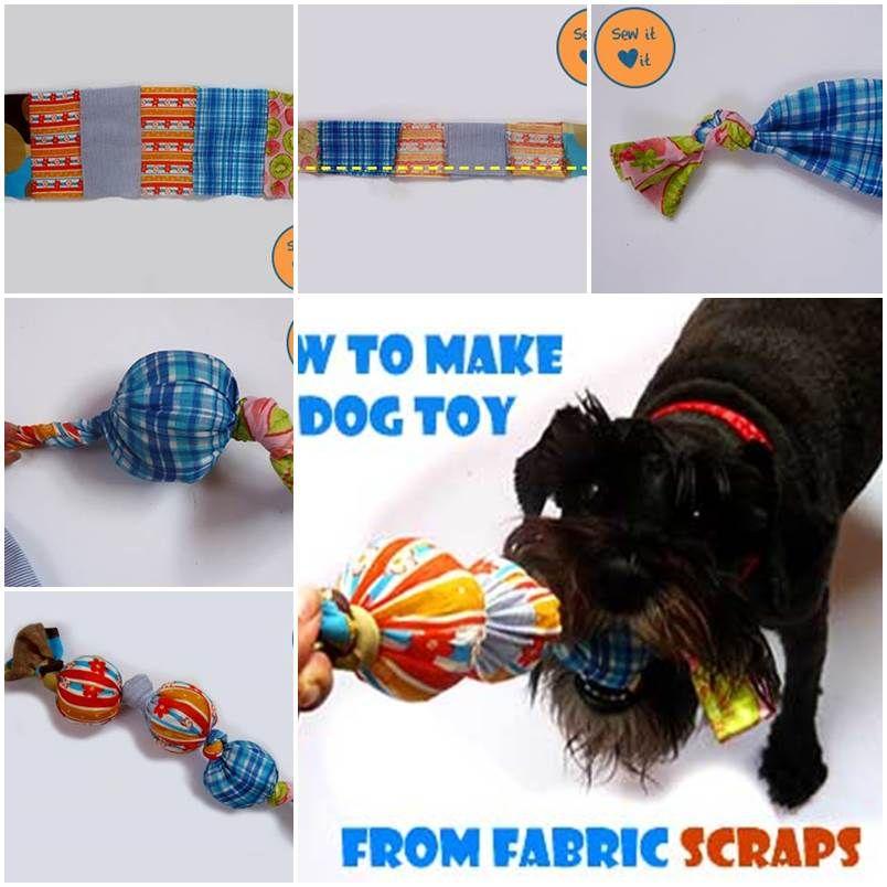 Make Dog Tug Toy: DIY Dog Toys From Fabric Scraps