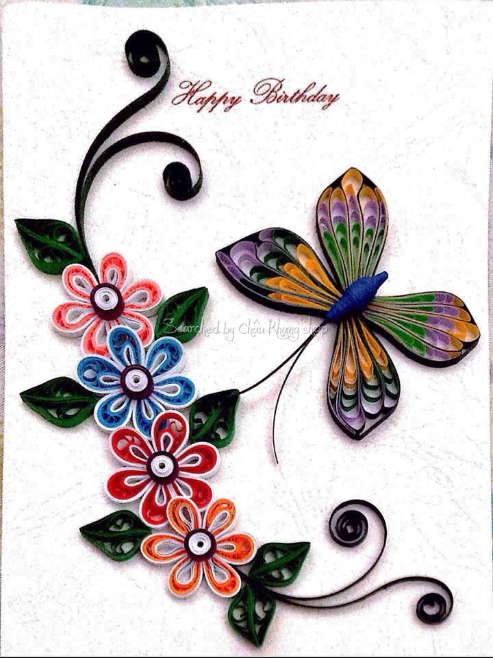 Quilling About Flowers And Animals Unknown Artist Quilling