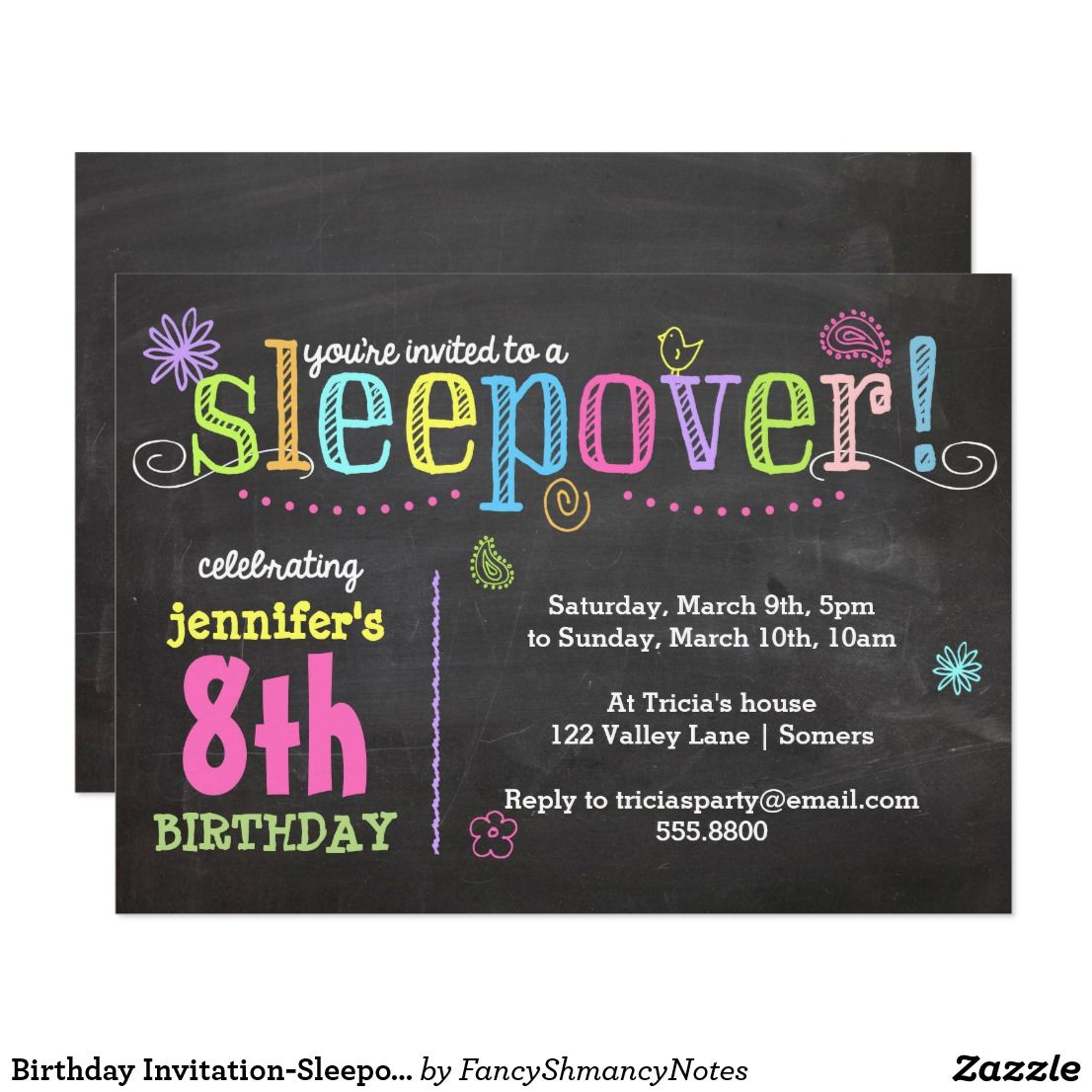 sleepover flyer - Dolap.magnetband.co