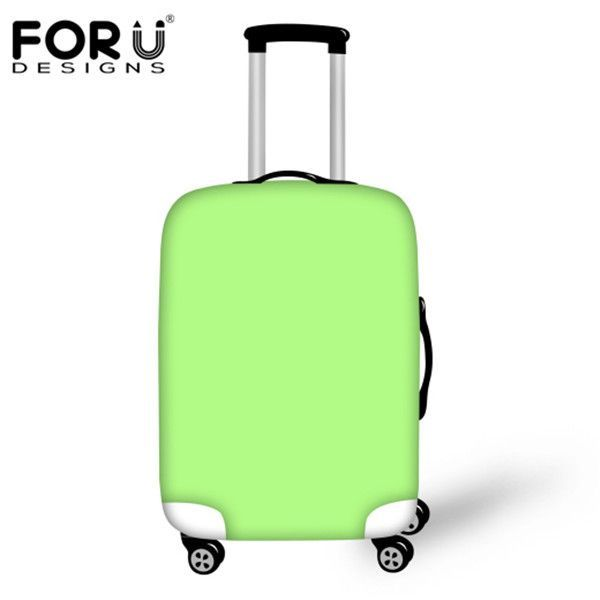 FORUDESIGNS Fashion Travel Accessories Elastic Luggage Protective Cover for 18-30 Inch Suitcase Case 3D Solid Color Rain Cover