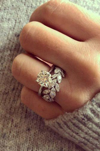 14k Rose Gold Diamond Anniversary Ring Flower Anniversary Ring