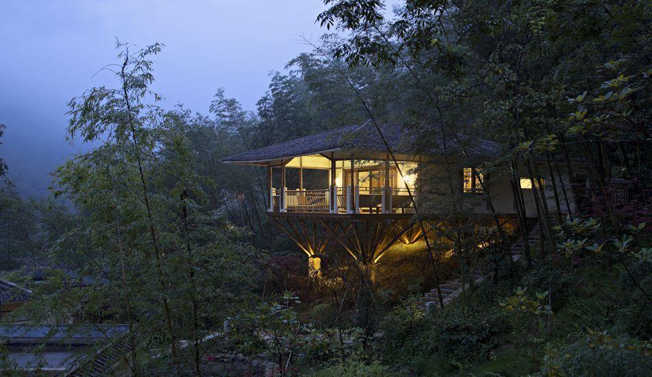 Maison Sur Pilotis Réalisée Et Décorée En Bambous En Chine | Maison