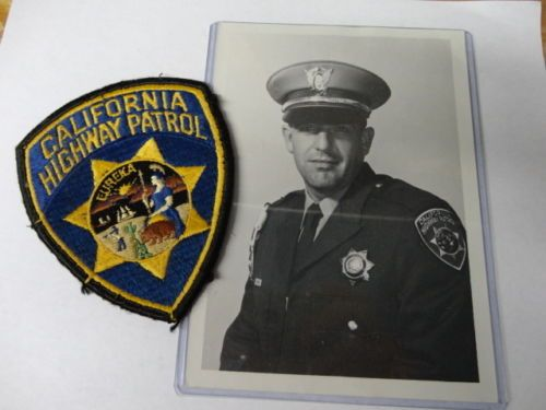 Vintage 1950s CHP / California Highway Patrol Patch & Photo
