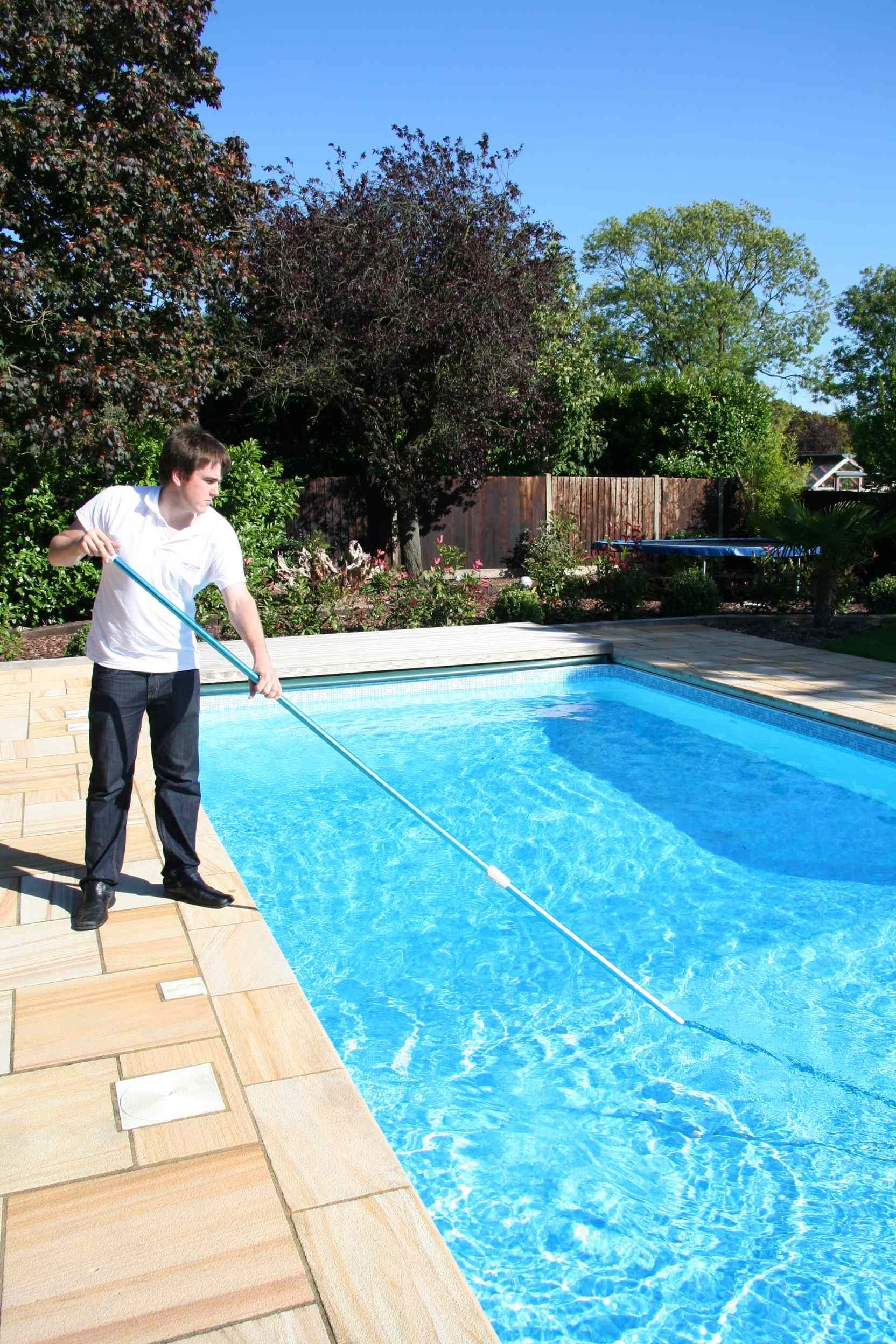 Are you tired of doing your own pool tile cleaning? Scrubbing those ...