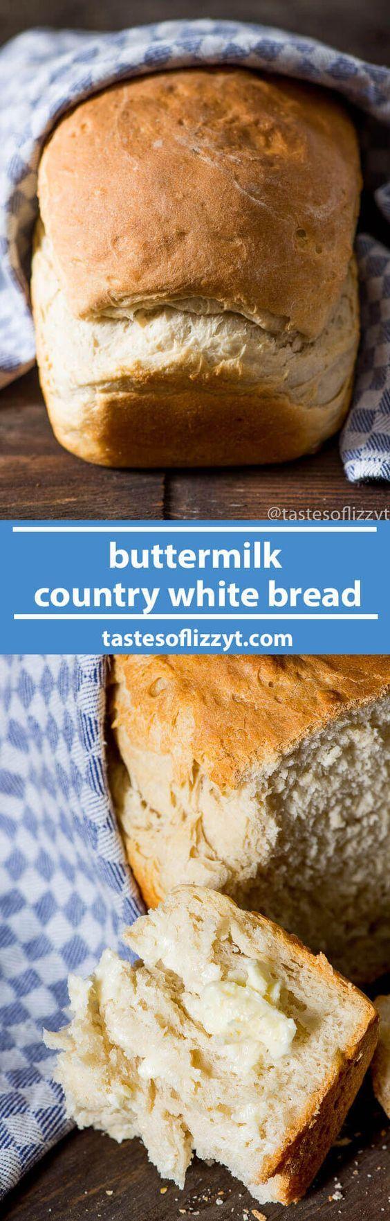 Buttermilk Country White Bread Bread Maker Recipes Bread Machine Recipes Bread Recipes Homemade