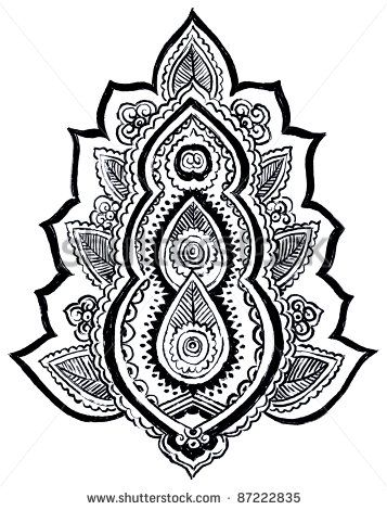 graphic regarding Printable Henna Designs identify Henna Templates Printable Henna Paisley Models Henna