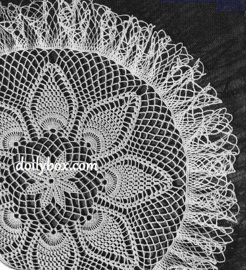 Free Vintage Crochet - Pineapple Print Doily Pattern | Crochet ...