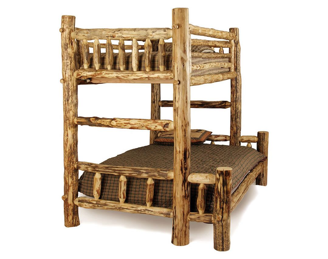 Rustic Log Bunk Mt Home Pinterest Bunk Beds Bed And Rustic