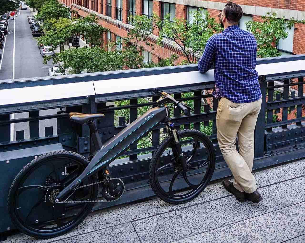 フレーム重わずか1 36キロ 全部入り のe Bike Emov Brina2 えん乗り 自転車 カーボンファイバー 電動自転車
