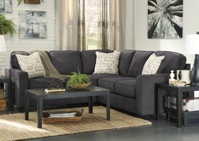 Lr44 Charcoal 2 Piece Sectional From The Teahouse Collection Taft Furniture Showcase Charcoal Sectional Sectional Sofa Fabric Sectional Sofas #taft #furniture #living #room #set