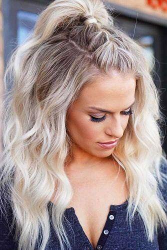 2018'in Harika Trendi Yarım Toplu Saçı Başka Bir Boyuta Taşıyacak 15 Tüyo #hairmakeup