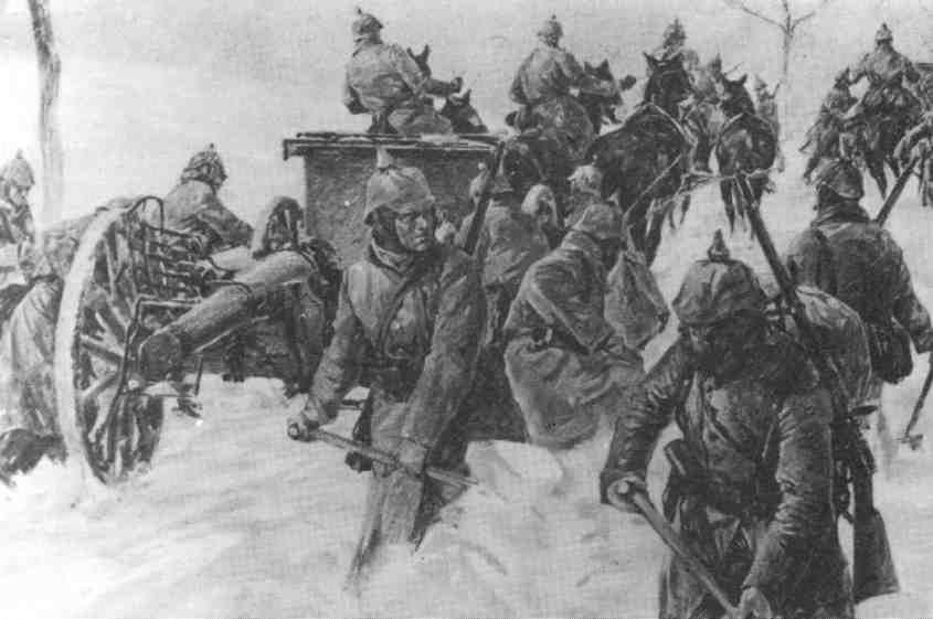 Winter Battle in the Carpathian Mountains, December 1914 till March 1915.jpg