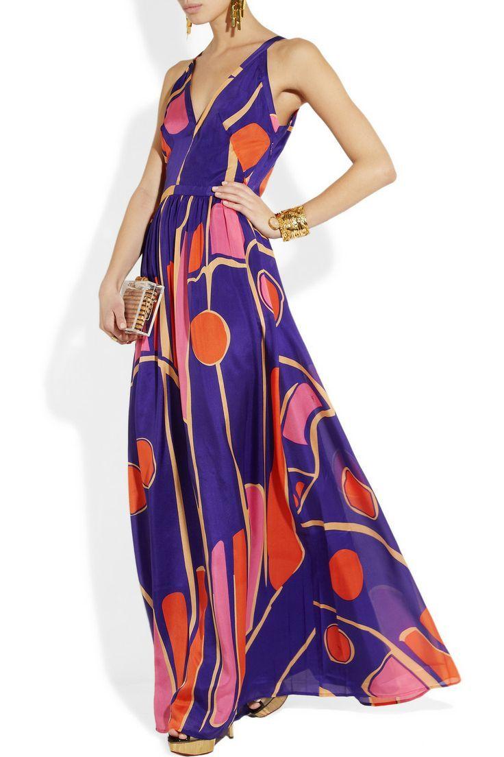 Printed Silk Chiffon Maxi Dress Chiffon Maxi Dress Maxi Dress Silk Chiffon [ 1104 x 736 Pixel ]