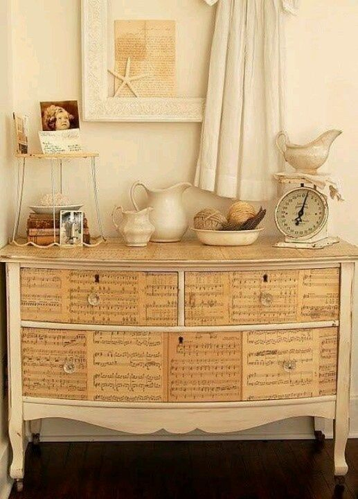 Mueble reciclado con decoupage | Ideitas para Cata | Pinterest ...