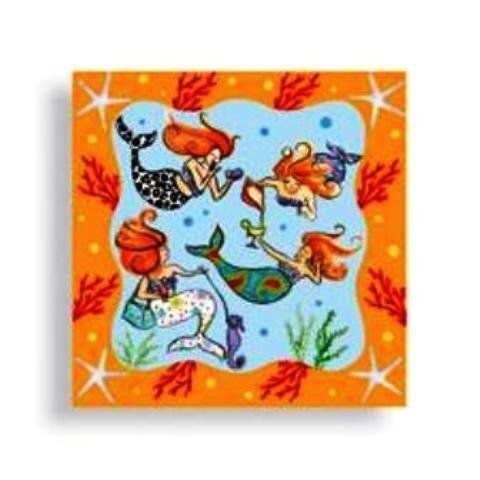 Mermaid Siren of Sea Girls Night Beverage Napkins by Downeast Concepts. $4.98. 24 napkins per package. Paper beverage napkins measure 5 inches square. 3 ply. Mermaid Siren of Sea Girls Night Beverage Napkins