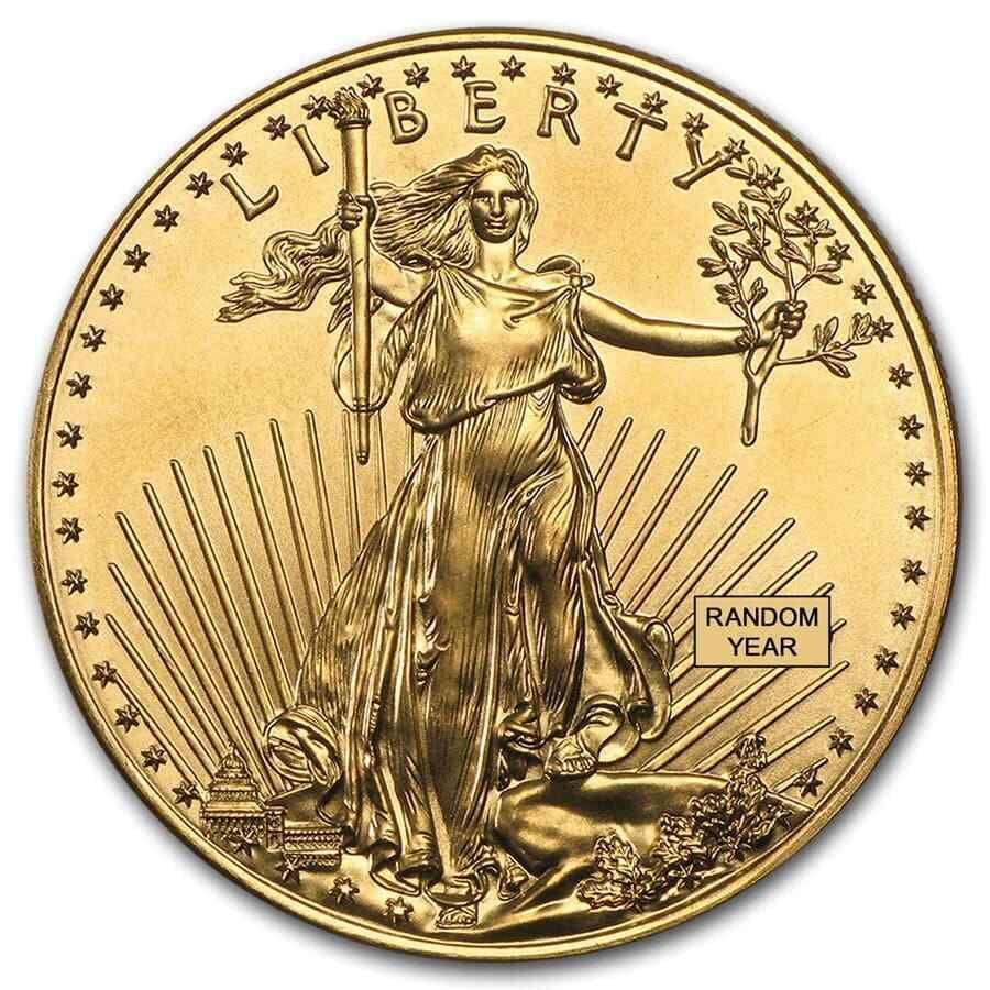 1 Oz Gold American Eagle 50 Coin Bu Random Year Us Mint In 2020 American Eagle Gold Coin Gold Eagle Coins Eagle Coin