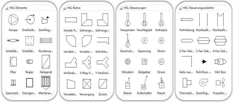 Symbole für HLK-Plan | Grundriss Baupläne | Pinterest | Software