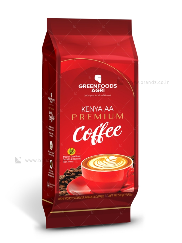 GreenFoods Agri Kenya AA Premium Coffee Brandz.co.in in