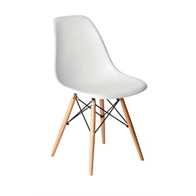 PP Moulded Chair (Beige) With Wooden Spindle Legs (Pack