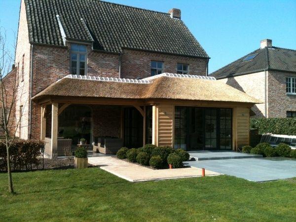 combinatie rieten dak - Google zoeken - buiten interieur/tuin ...