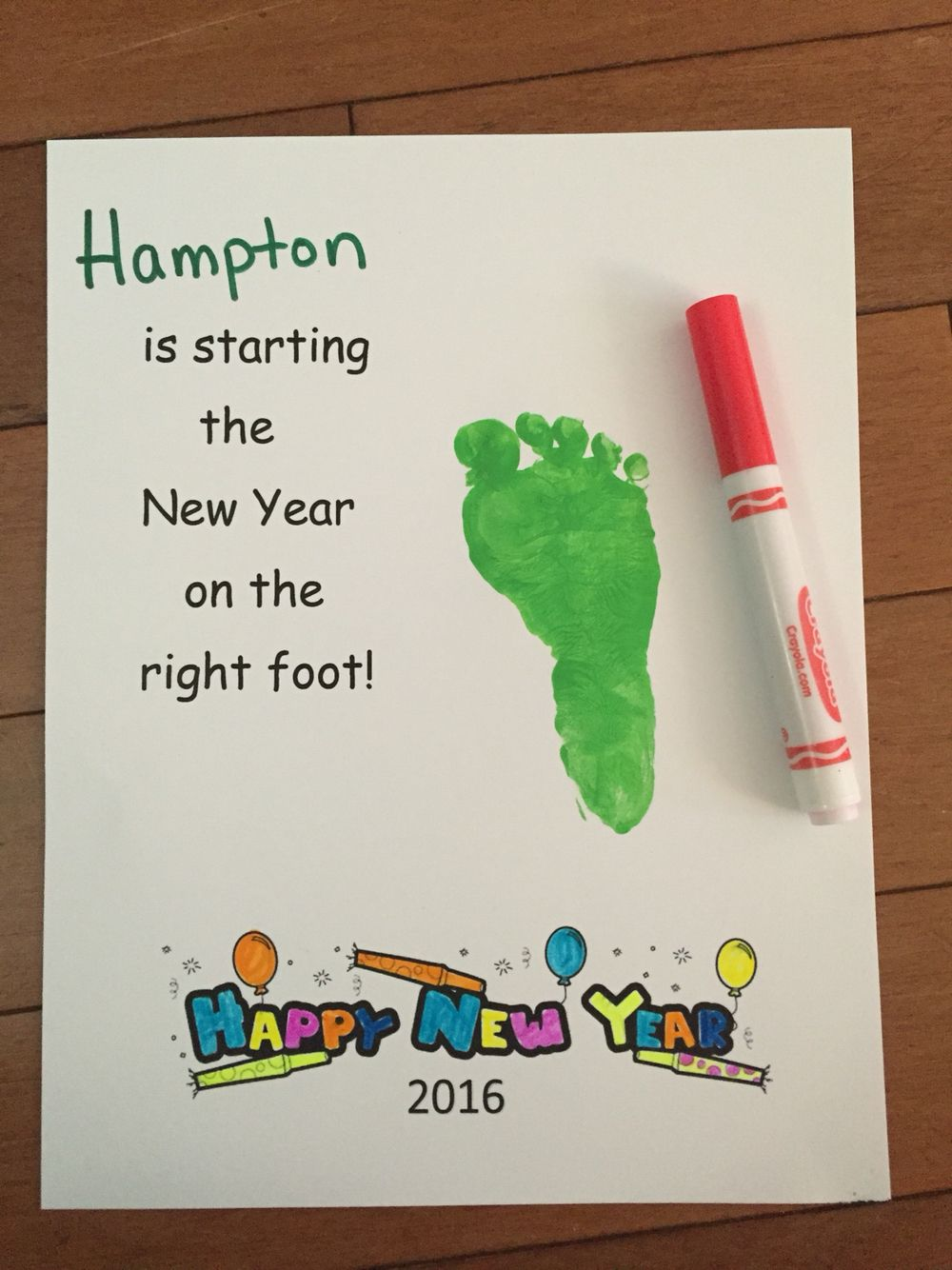 New Year activity for preschoolers. New Years Craft | New ...