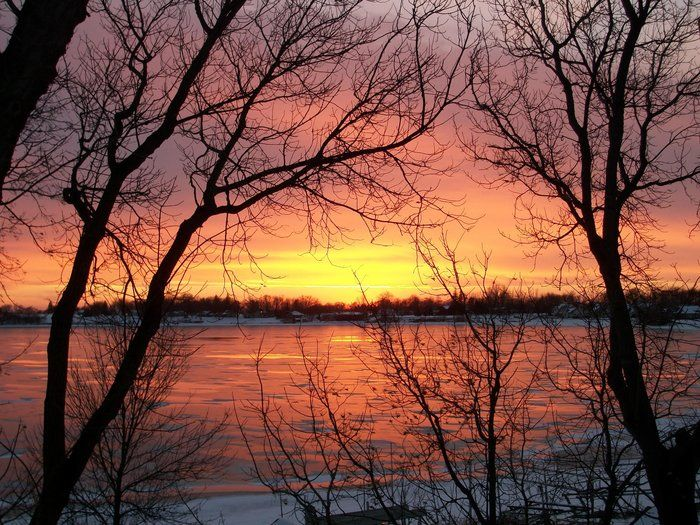 Sunset on ice by Anne Dawley on Capture Minnesota // Always gorgeous sunsets out here!
