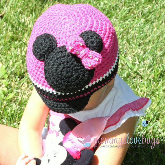 Minnie Mouse Brim Crochet Beanie by MommysLoveBugs   Crochet ...