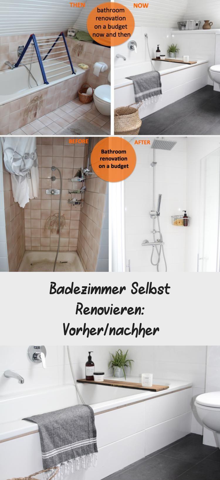 Badezimmer Selbst Renovieren Vorher Nachher Bathrooms Remodel Bathroom Renovation Bathroom Plumbing