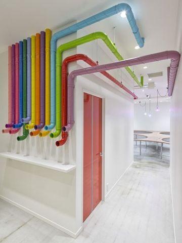 Tubi come strade e percorsi possibili cubotondo for Appartamento design industriale