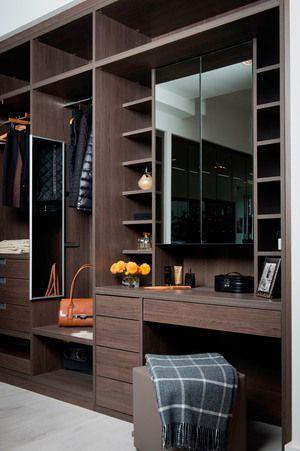 Anthracite Built In Dressing Table Walk WardrobeWardrobe DesignWardrobe