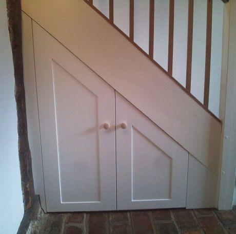 Basement Stairwell Storage