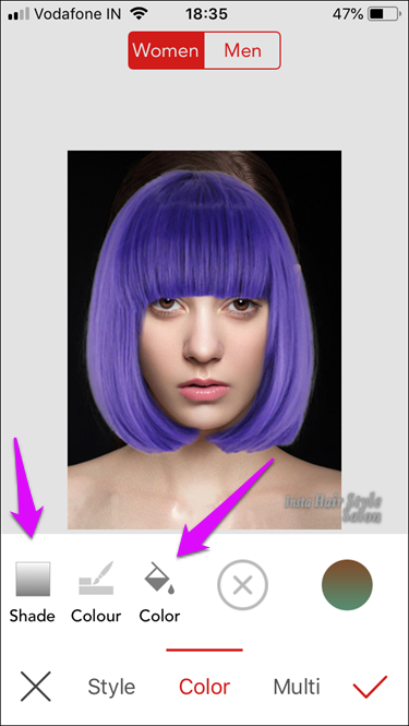 I Os Apps To Change Hair Color 6 Change Hair Color Change Hair Hair Colour App
