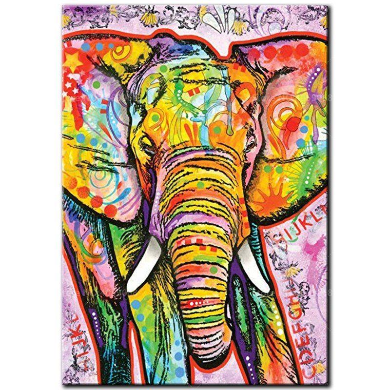 5D Full Drill Square Diamond Painting Elephant Cross Stitch Embroidery Art Decor