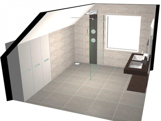 3D-ontwerp badkamer   3D-ontwerpen badkamers   Pinterest