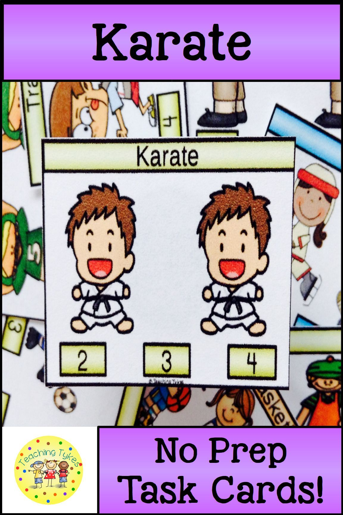 Karate Activity To Practice Counting Karate