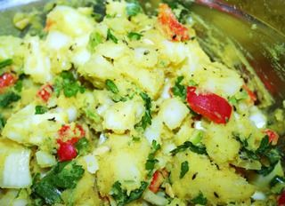 Indian Potato Salad:  Indian potato salad is the most beautiful salad on the planet!