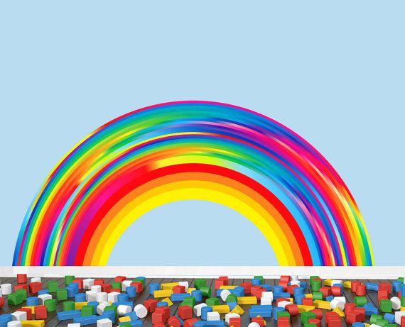 Reusable Rainbow Wall Decal EXTRA LARGE By StudioWallStickers
