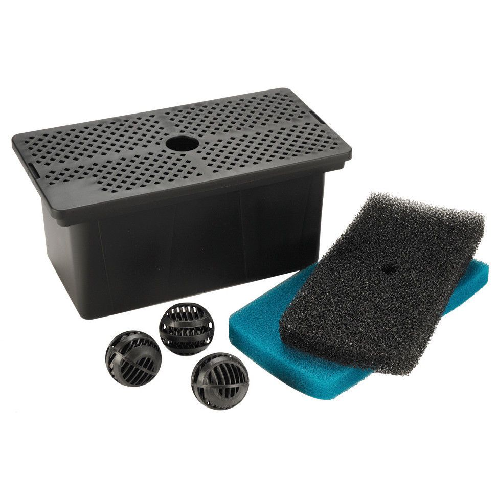 Pump filter box, for ponds that hold up to 500