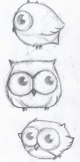 516baeda5d These are really cute owls that would be and easy to draw