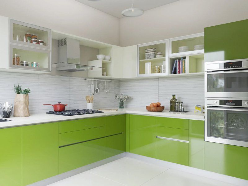 Mundane Beauty L Shaped Modular Kitchen Designs India Homelane