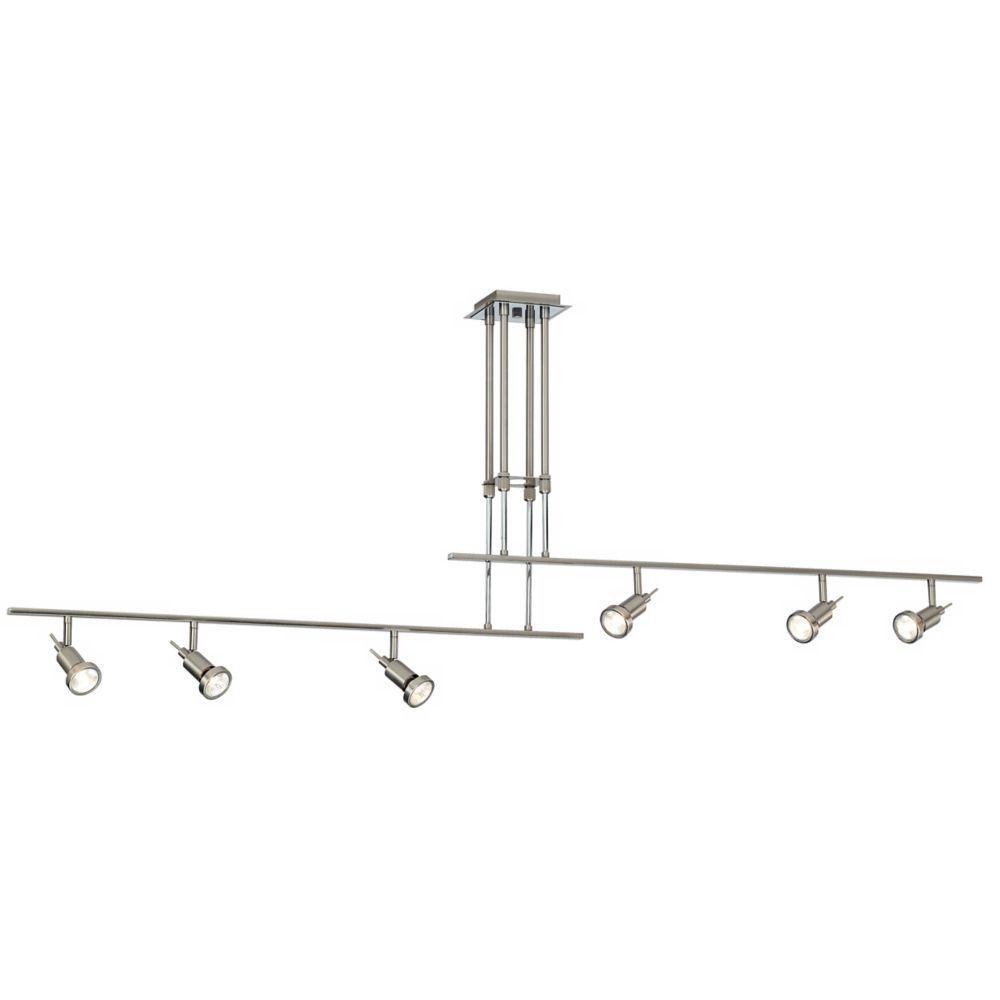 Two rail 64 14w adjustable 6 light halogen ceiling fixture style two rail 64 14w adjustable 6 light halogen ceiling fixture k6809 lamps plus arubaitofo Image collections