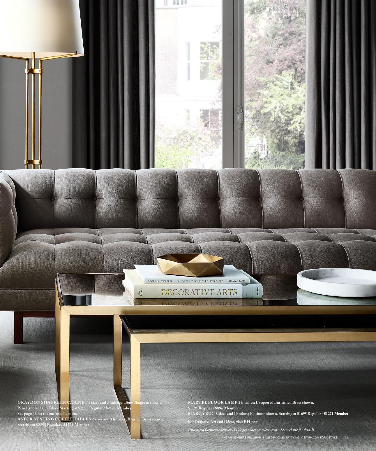 Restoration Hardware Modern: 1950 Tuxedo Reimagined! Introducing The Madison Collection