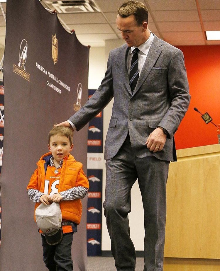 """""""mini me"""" after AFC Championship win post game press"""