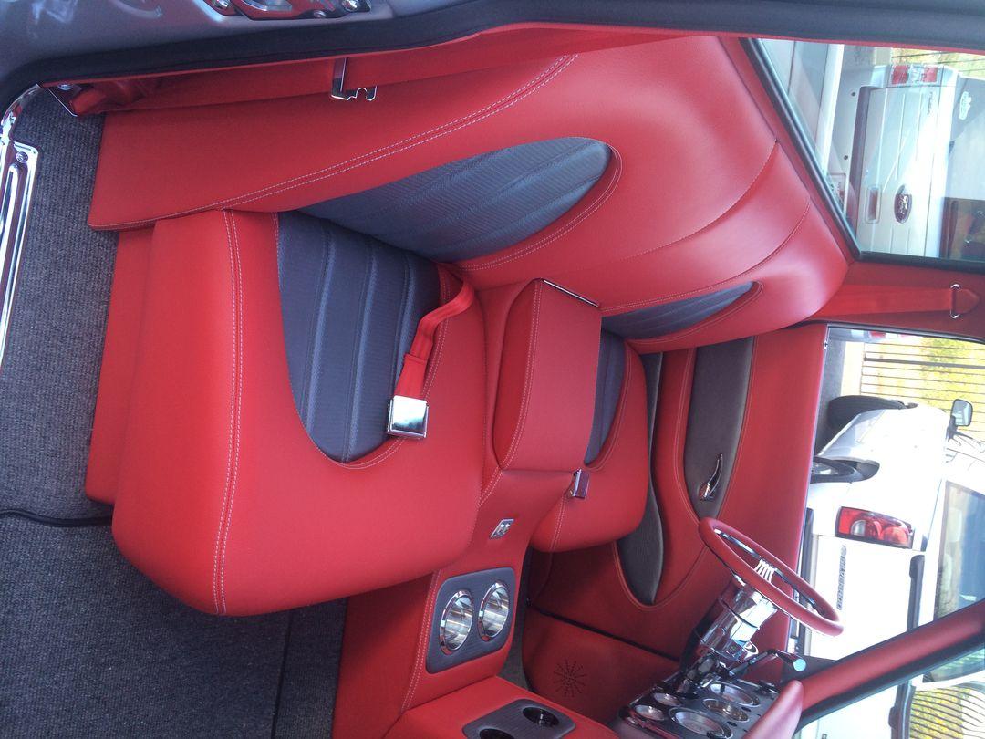70 Chevy Truck Grey Silver Red Black Custom Interior Door