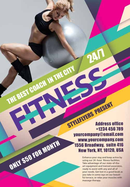 Fitness Flyer Template. Female Fitness Flyer Template Female