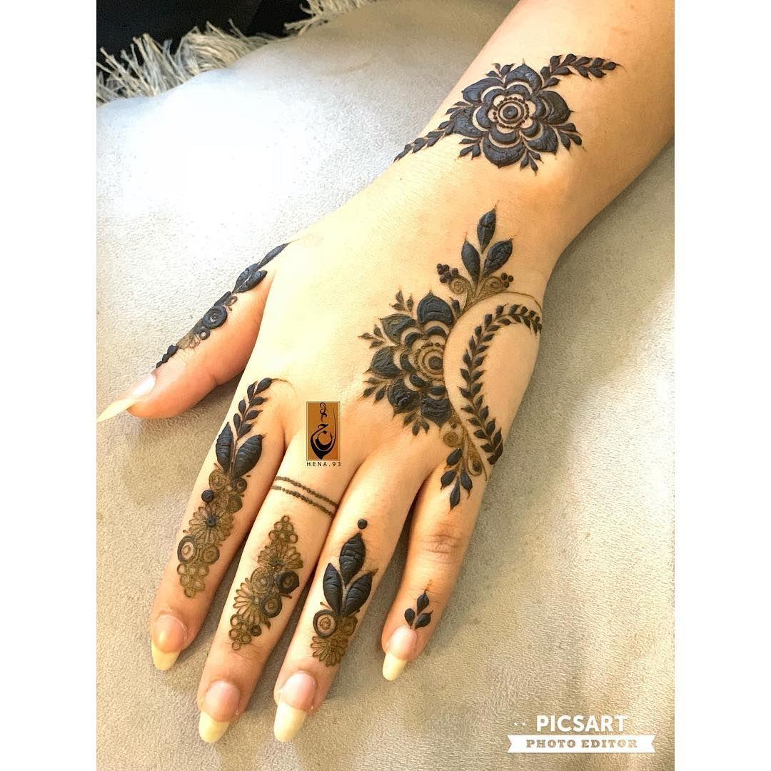 Instagram Post By س ــعاد Suad Nov 22 2018 At 10 41am Utc New Mehndi Designs Mehndi Design Photos Henna Designs