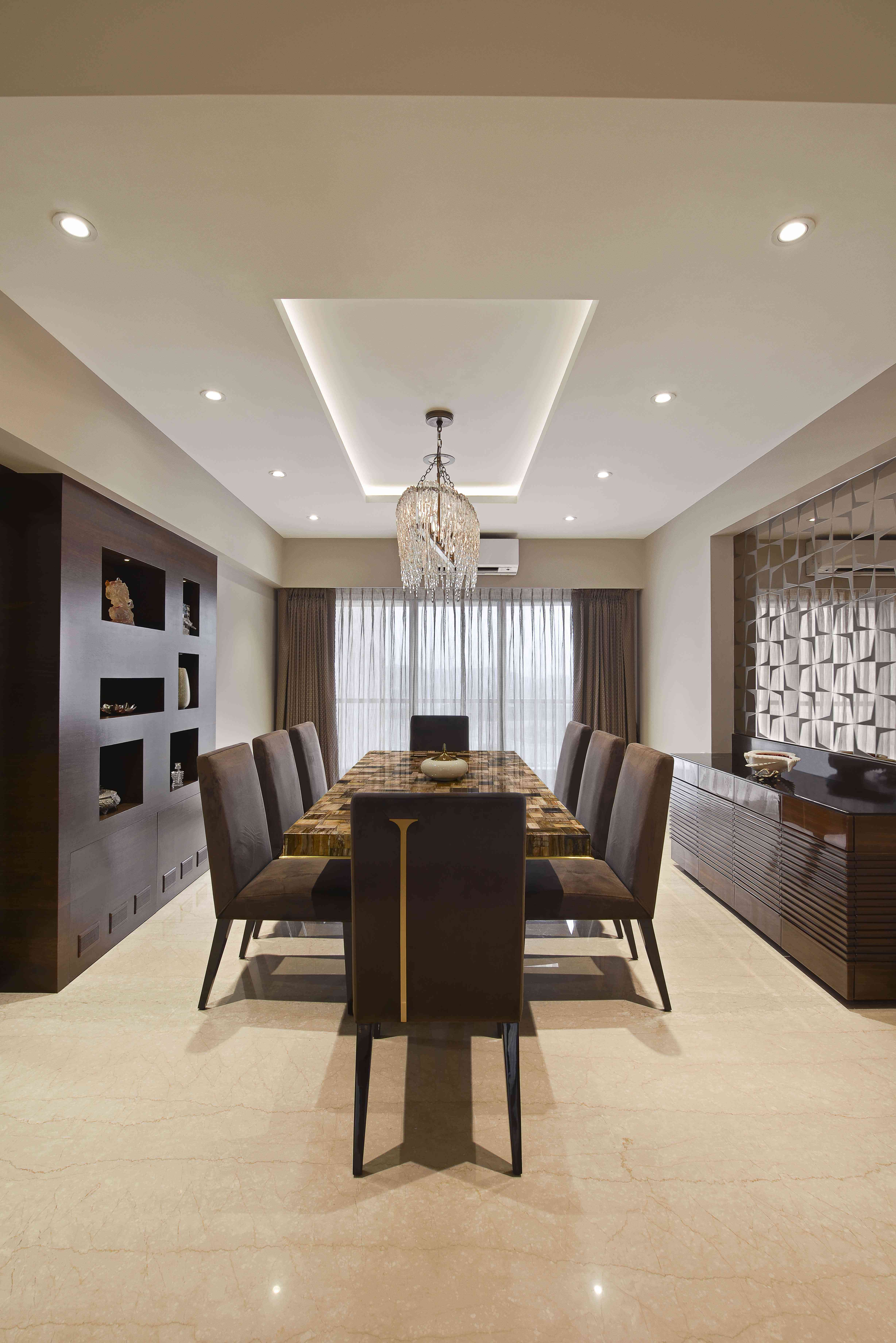 Dining room design - Milind Pai in 2019 | Living room ... on Dining Table Ceiling Design  id=52987