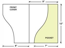 Die Cut Template For Serpentine Cut Right Pocket Presentation - Brochure folder template