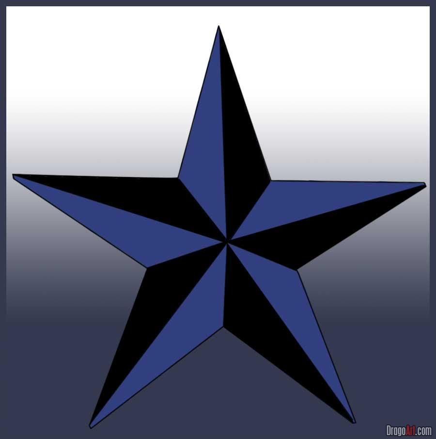 Nautical Star Tattoo Maybe In Green Or Red Nautical Star Nautical Star Tattoos Drawing Tutorial